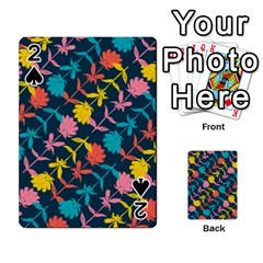 Colorful Floral Pattern Playing Cards 54 Designs