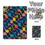 Colorful Floral Pattern Playing Cards 54 Designs  Front - SpadeQ