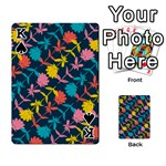 Colorful Floral Pattern Playing Cards 54 Designs  Front - SpadeK