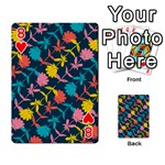 Colorful Floral Pattern Playing Cards 54 Designs  Front - Heart8