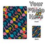 Colorful Floral Pattern Playing Cards 54 Designs  Front - DiamondA