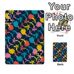 Colorful Floral Pattern Playing Cards 54 Designs  Front - Club4