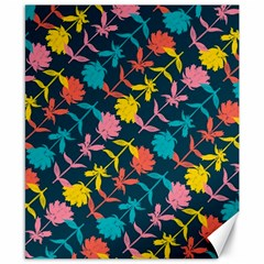Colorful Floral Pattern Canvas 8  x 10