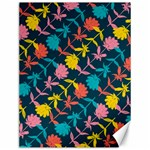 Colorful Floral Pattern Canvas 12  x 16