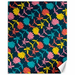 Colorful Floral Pattern Canvas 16  X 20   by DanaeStudio