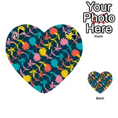 Colorful Floral Pattern Playing Cards 54 (heart)  by DanaeStudio