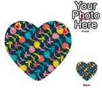 Colorful Floral Pattern Playing Cards 54 (Heart)  Front - Heart6