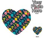 Colorful Floral Pattern Playing Cards 54 (Heart)  Front - Diamond6
