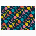 Colorful Floral Pattern Large Glasses Cloth (2-Side)
