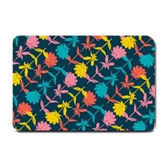 Colorful Floral Pattern Small Doormat