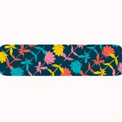 Colorful Floral Pattern Large Bar Mats