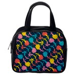 Colorful Floral Pattern Classic Handbags (2 Sides) Back