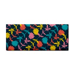 Colorful Floral Pattern Hand Towel by DanaeStudio