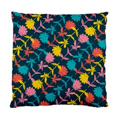 Colorful Floral Pattern Standard Cushion Case (one Side)