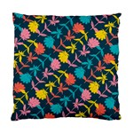 Colorful Floral Pattern Standard Cushion Case (Two Sides) Back