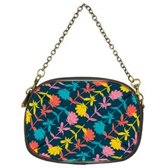 Colorful Floral Pattern Chain Purses (Two Sides)