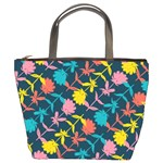 Colorful Floral Pattern Bucket Bags Front