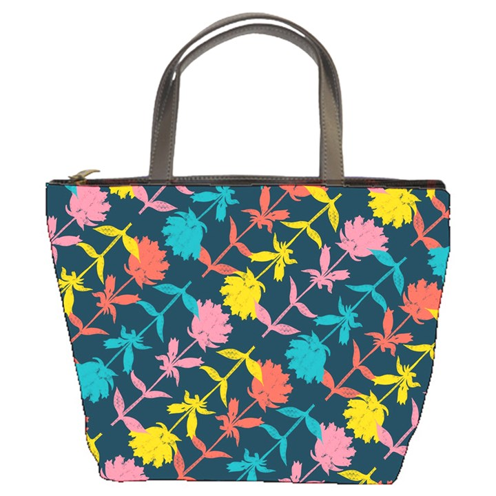 Colorful Floral Pattern Bucket Bags