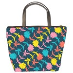 Colorful Floral Pattern Bucket Bags Back