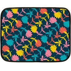 Colorful Floral Pattern Fleece Blanket (Mini)