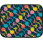 Colorful Floral Pattern Fleece Blanket (Mini) 35 x27 Blanket