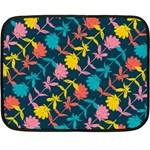 Colorful Floral Pattern Fleece Blanket (Mini)