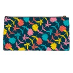 Colorful Floral Pattern Pencil Cases Back