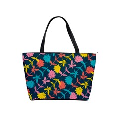 Colorful Floral Pattern Shoulder Handbags by DanaeStudio