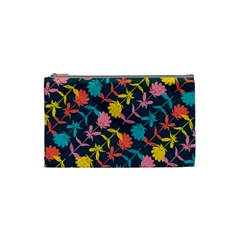 Colorful Floral Pattern Cosmetic Bag (small)  by DanaeStudio