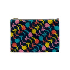 Colorful Floral Pattern Cosmetic Bag (Medium)