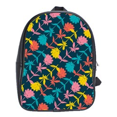 Colorful Floral Pattern School Bags(Large)