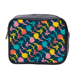 Colorful Floral Pattern Mini Toiletries Bag 2-Side