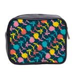 Colorful Floral Pattern Mini Toiletries Bag 2-Side Back