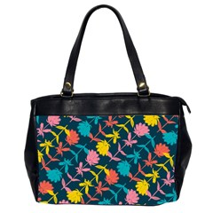 Colorful Floral Pattern Office Handbags (2 Sides)  by DanaeStudio
