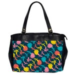 Colorful Floral Pattern Office Handbags (2 Sides)  Front