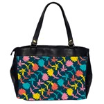 Colorful Floral Pattern Office Handbags (2 Sides)  Back