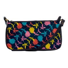Colorful Floral Pattern Shoulder Clutch Bags by DanaeStudio