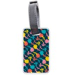 Colorful Floral Pattern Luggage Tags (Two Sides) Back
