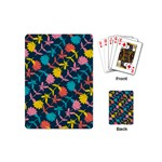 Colorful Floral Pattern Playing Cards (Mini)  Back