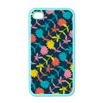 Colorful Floral Pattern Apple iPhone 4 Case (Color) Front