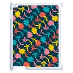 Colorful Floral Pattern Apple iPad 2 Case (White) Front