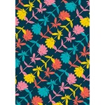 Colorful Floral Pattern Ribbon 3D Greeting Card (7x5) Inside