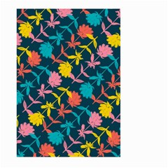Colorful Floral Pattern Large Garden Flag (two Sides) by DanaeStudio
