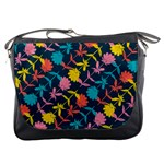 Colorful Floral Pattern Messenger Bags Front