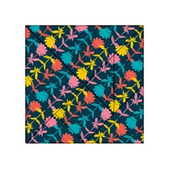 Colorful Floral Pattern Acrylic Tangram Puzzle (4  x 4 )
