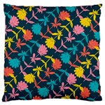 Colorful Floral Pattern Large Cushion Case (Two Sides) Front