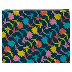 Colorful Floral Pattern Cosmetic Bag (xxxl)  by DanaeStudio