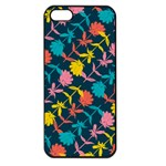 Colorful Floral Pattern Apple iPhone 5 Seamless Case (Black) Front