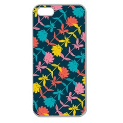 Colorful Floral Pattern Apple Seamless iPhone 5 Case (Clear)