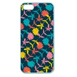 Colorful Floral Pattern Apple Seamless iPhone 5 Case (Color) Front